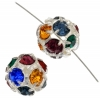 Rhinestone Bead 10mm Round Assorted Colors